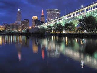 Cleveland WestBank Night HDR | by Christopher Capell