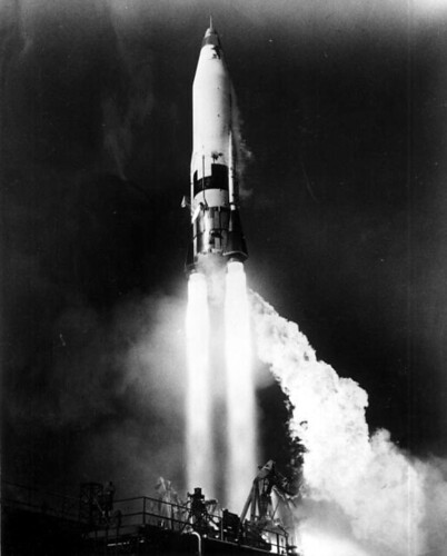 View of Atlas missile launch | by State Library and Archives of Florida