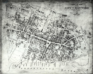 Copy of map of the City of Hartford, surveyed and drawn by Marcus Smith. | by uconnlibrariesmagic