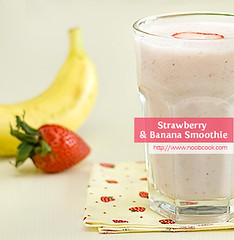 Strawberry Banana Smoothie | by wiffygal
