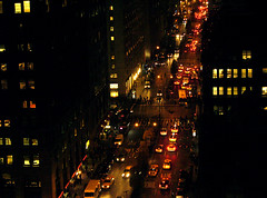 NYC,  rush hour darkness | by colorstalker