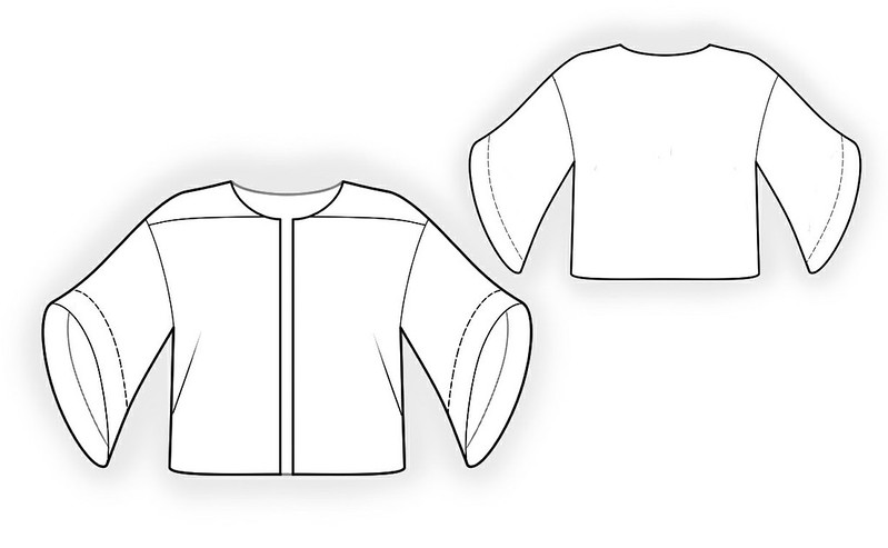 Lekala 4114 jacket with bell sleeves 180_technical_drawing_894