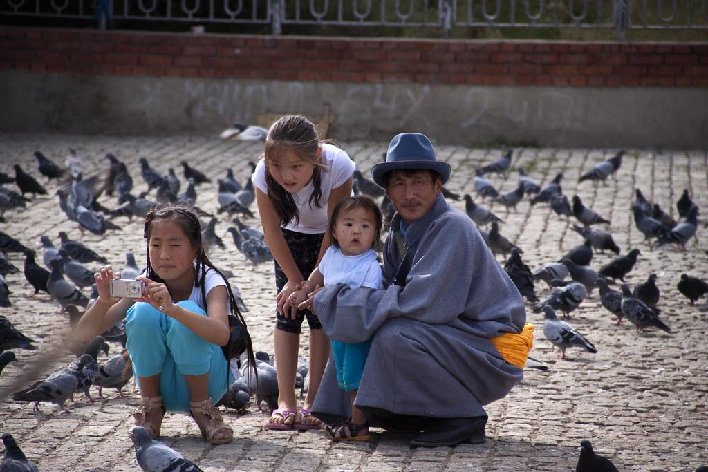 A Mongolian Family In Ulaanbatar