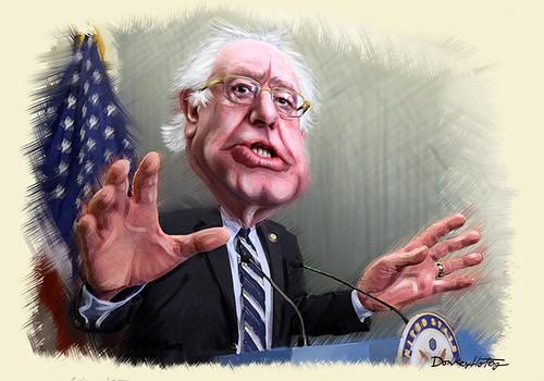 Bernie Sanders - Caricature (Painting)