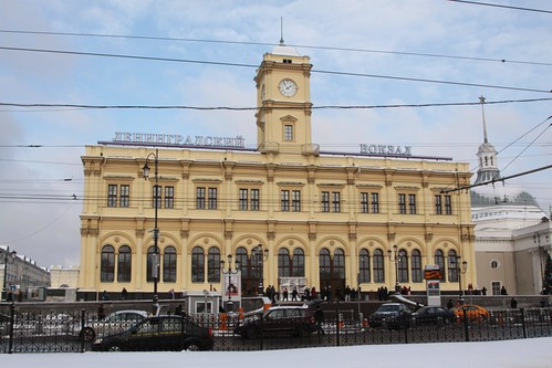 View of Leningradsky station from Komsomolskaya Square
