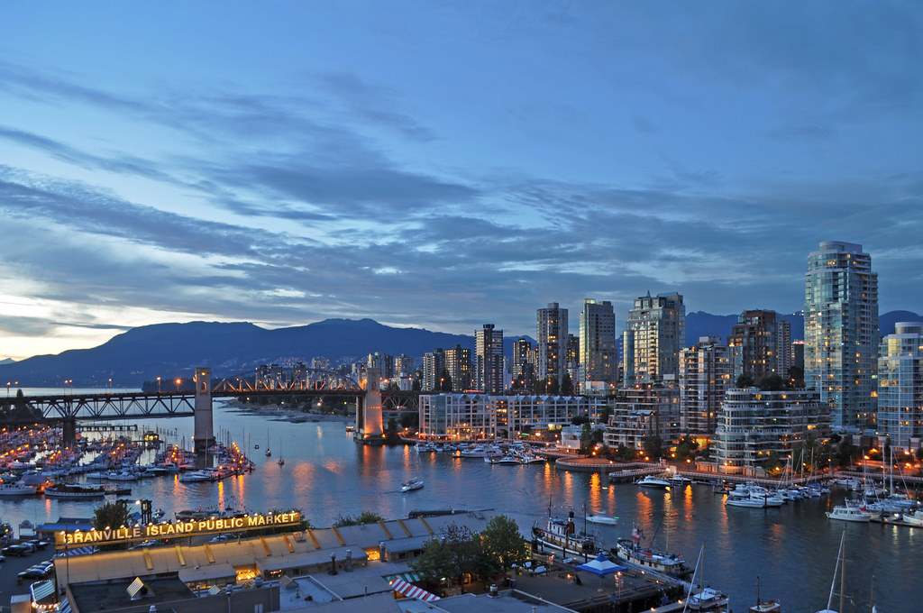 Canada - Vancouver - False Creek, Burrard Bridge by Harshil Shah