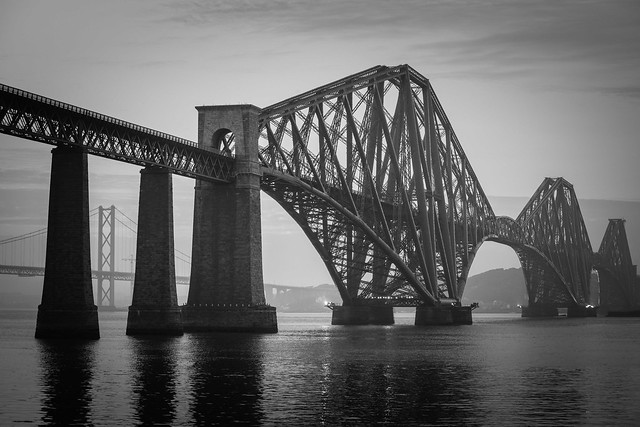 Forth Bridge Misty Mono