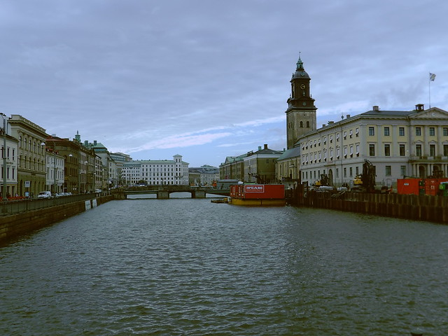 Crossing the river in Gothenburg