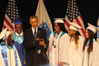 President Obama at WTHS graduation