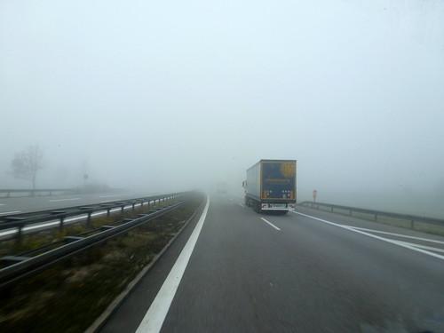 Ухудшение видимости на дорогах столицы.