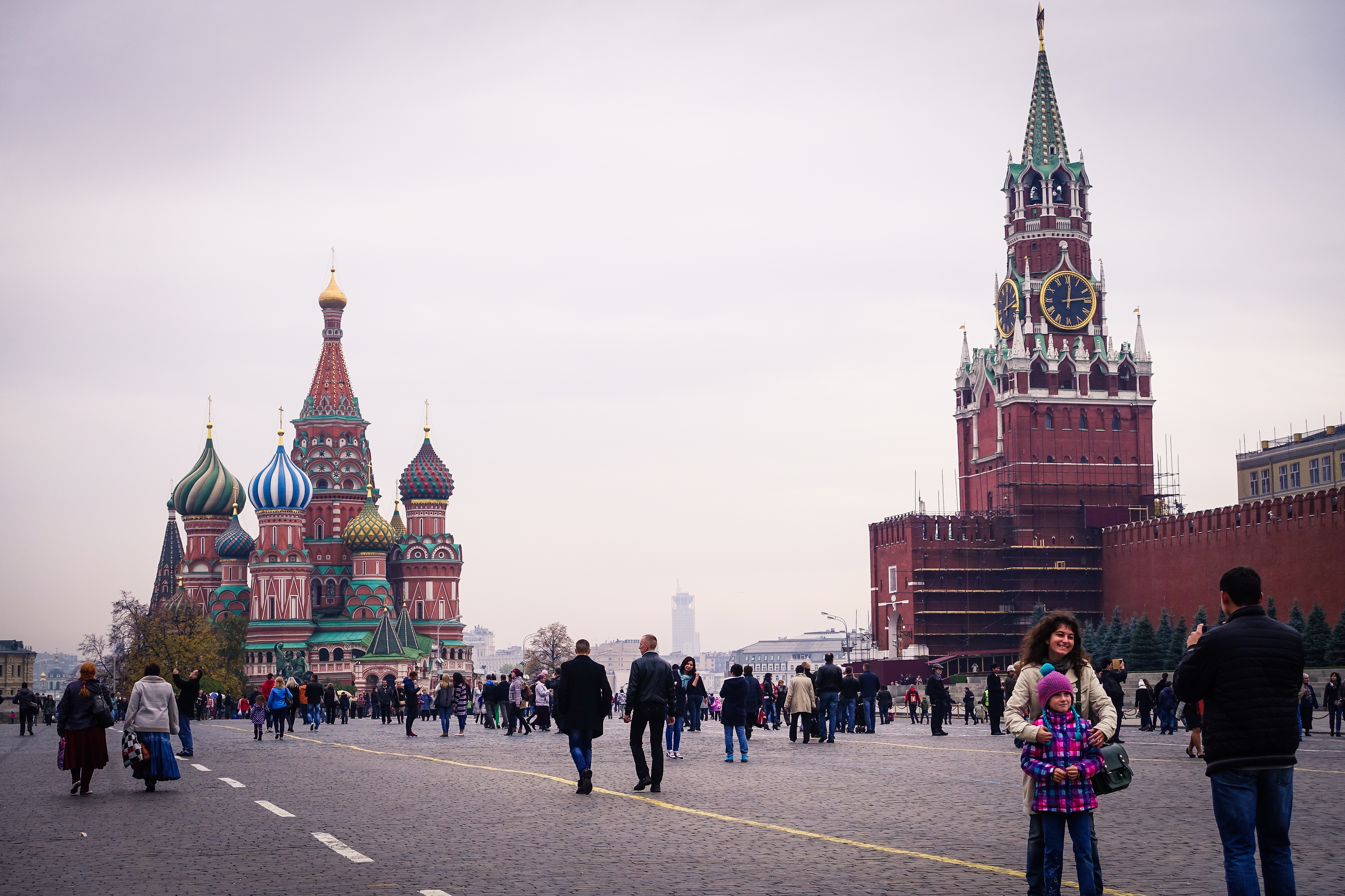 red square people