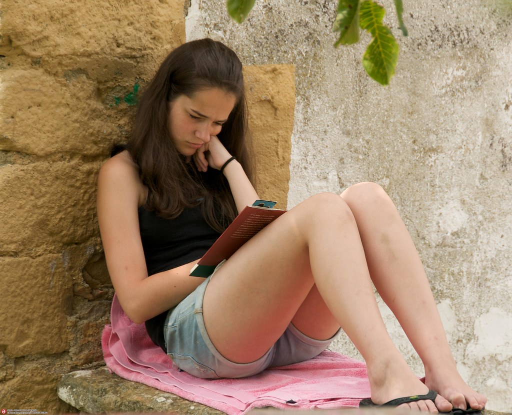 paula reading a book