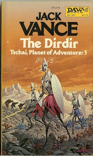 Jack Vance - The Dirdir - Tschai, Planet of Adventure:3 -  cover artist  H. R. Van Dongen -  DAW No. 347 - July 1979