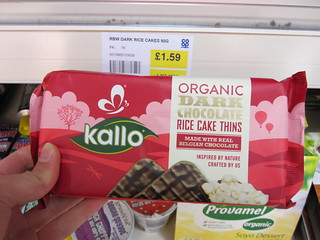 Kallo Organic Dark Chocolate Rice Cake Thins | by veganbackpacker