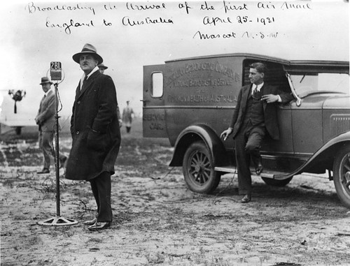 Outside Broadcast van: Mascot: ACC Stevens and Harry Croot | by ABC Archives