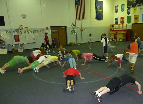 Gym Class at Fishers Elementary School | by USDAgov