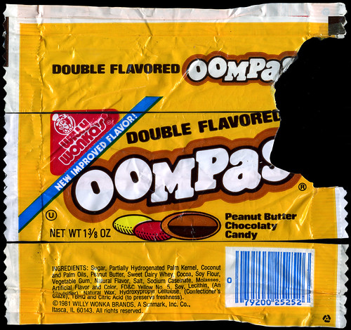 Sunmark - Willy Wonka's Oompas - Double Flavored - candy package - 1981 | by JasonLiebig