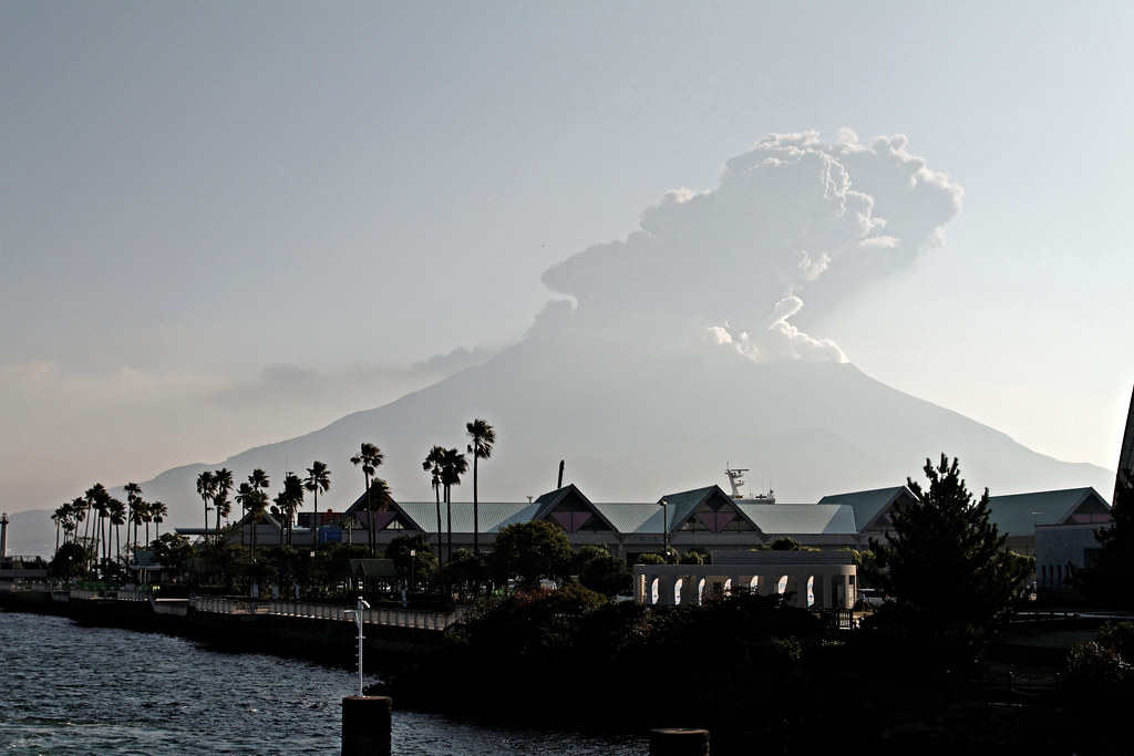 Sakurajima from Ferry terminal