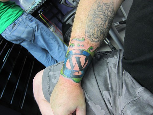 Las Vegas WordCamp logo tattoo
