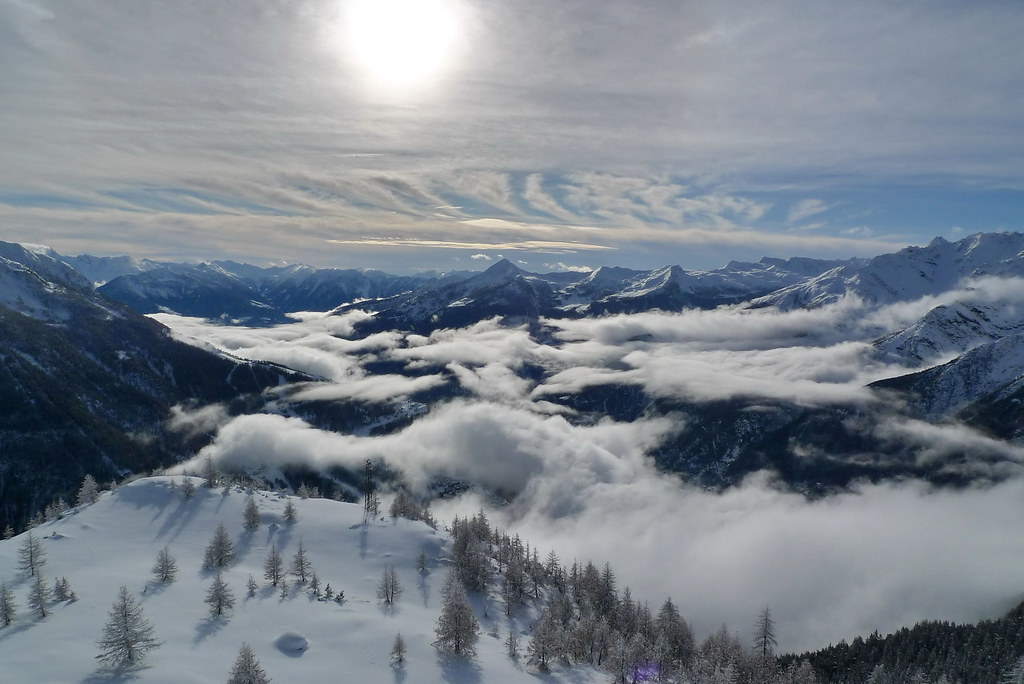 Clouds on the Alps