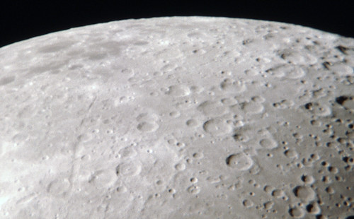 Closeup of Moon Showing Craters | by J.D. Knight