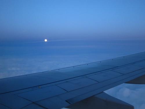 Sonne aus dem Flugzeug