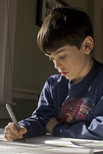 boy, with homework | by woodleywonderworks