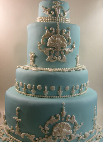 Blue Wedgwood Classical Cake | by elizabethscakeemporium