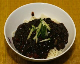 Min's  black bean sauce noodles (jjajangmyeon) | by maangchi