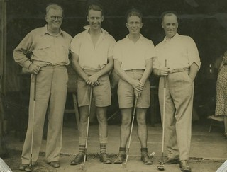 Golfing foursome, Brisbane | by State Library of Queensland, Australia