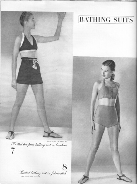 1945 Vogue Bikini Knitting Pattern- Free! 1