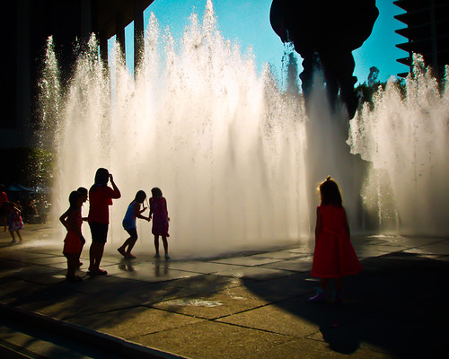 538: LA Music Center Fountains | by enovember