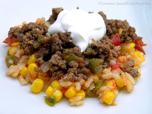 Picadillo with Mexican Rice | by CinnamonKitchn