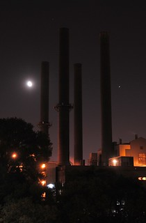3/4 Moon and Four Stacks | by hamkevp