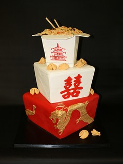 Chinese Take-Out Wedding Cake | by Berliosca Cake Boutique