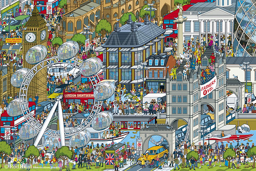 Top Gear Where's Stig? The World Tour - London -  book illustration - isometric pixel art by Rod Hunt | by Rod Hunt Illustration