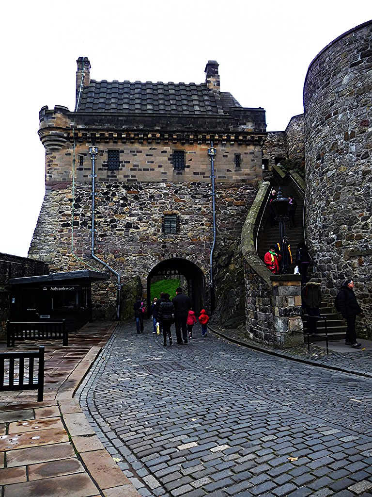 Portcullis Entrance Gate at Edinburgh Castle, Scotland.