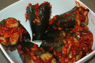 Renier's  oisobagi(stuffed spicy cucumber kimchi) | by maangchi