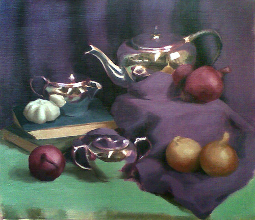 Still life with teapot, week 2 | by kristabrennan