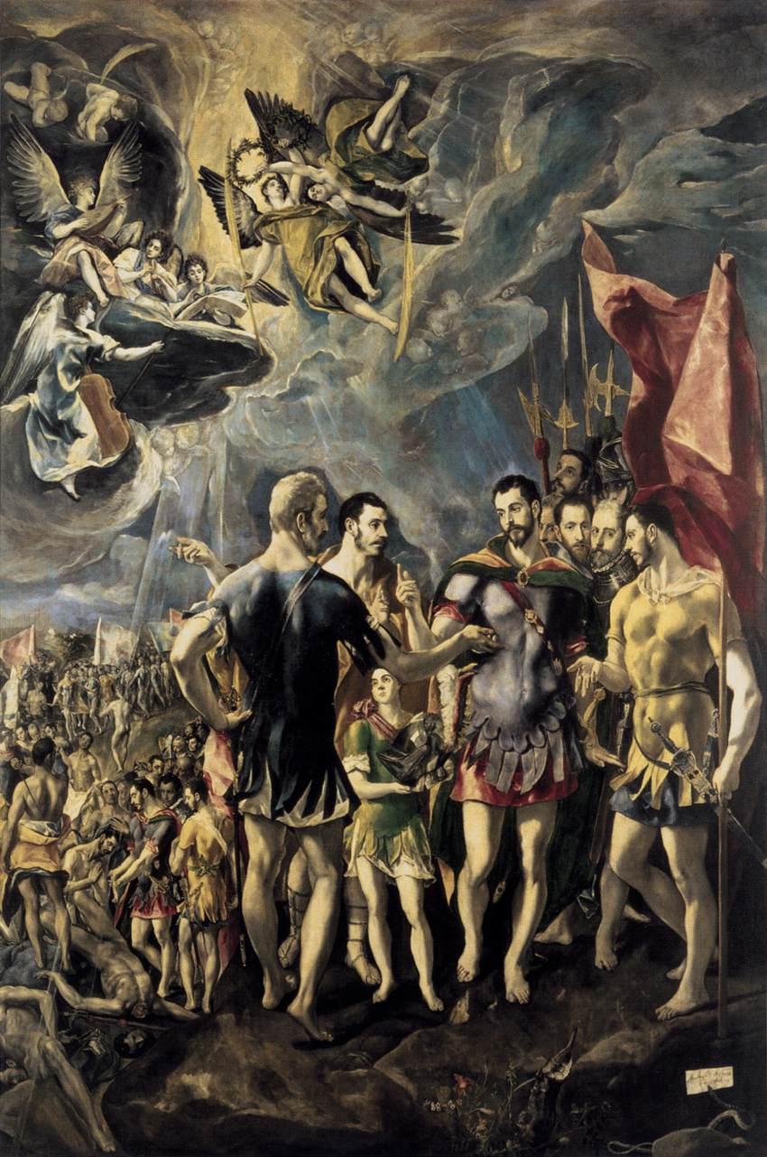 martirio de sao mauricio - El Greco