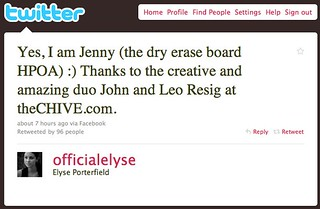 Twitter / Elyse Porterfield: Yes, I am Jenny (the dry e ... | by seanbonner