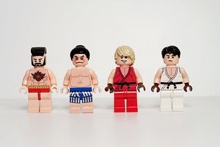 Street Fighter Minifigs - Round 1 | by levork