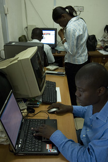 The newsroom at the Joy FM studios in Accra | by World Bank Photo Collection
