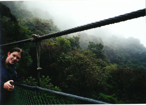 Katie on suspension bridge