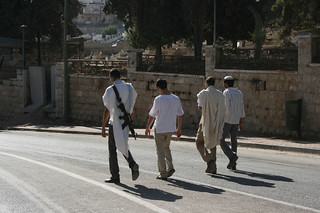 Settlers taking a walk on Shuhada Street | by ISM Palestine