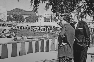 Patrick Moynihan and Richard Nixon Touring the Redevelopment Area of Pennsylvania Avenue. 1970 | by cliff1066™