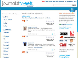 Klout in journalisttweets | by daddymention