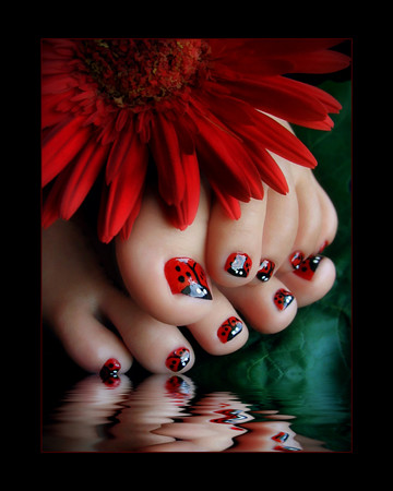 Ladybug Nails | by OurBeautifulWorld