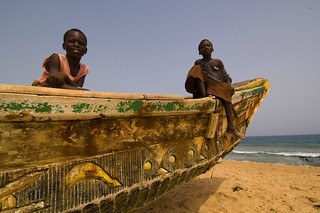 Children on a fishing boat | by World Bank Photo Collection