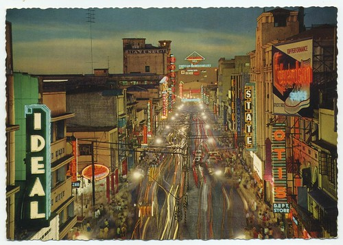 Riza Ave, Manila, Philippines postcard 1950's | by orngejuglr